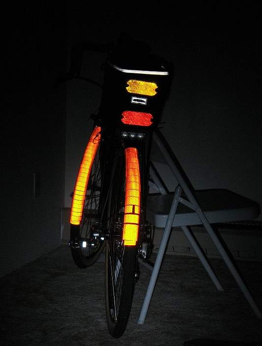 Mechbgons info page on cycling visibility a further comment about reflective tape compared to plastic cube corner reflectors reflective tape can reflect light back to its source even when the light aloadofball Choice Image